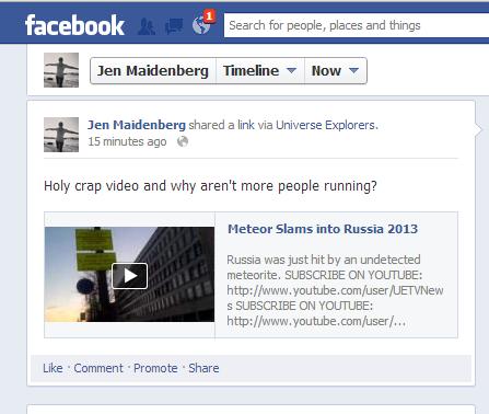 facebook jen meteor