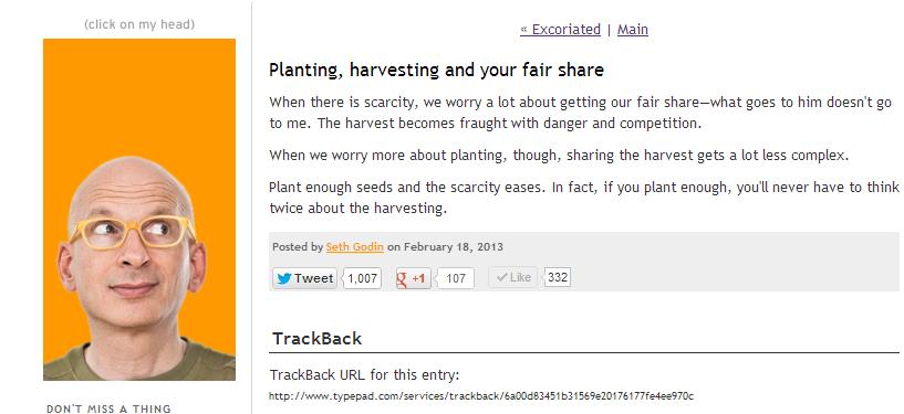 seth godin plant seeds