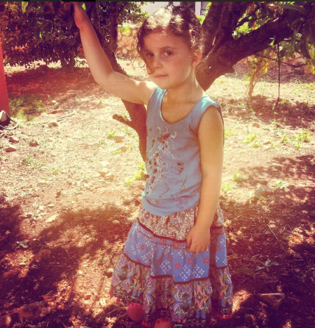 annabel in the yard