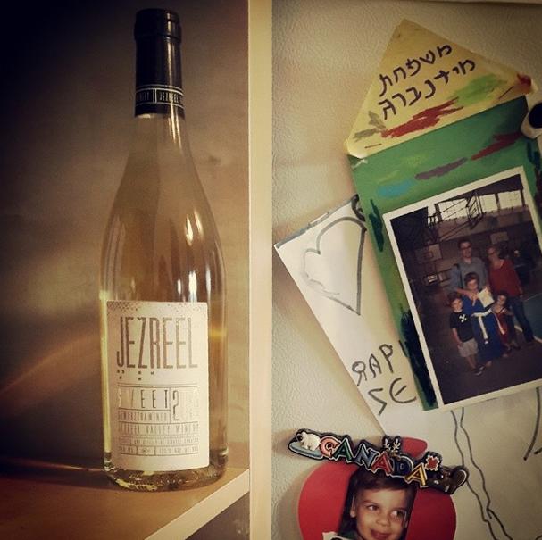 Jezreel Valley wine in my kitchen