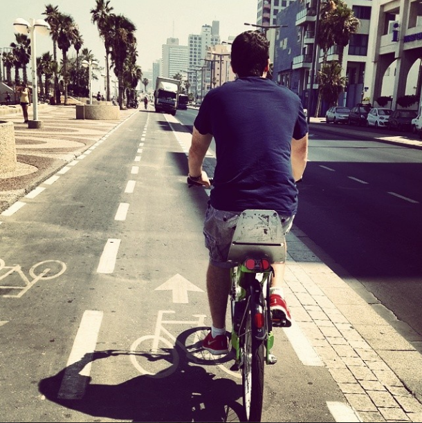 Husband on Bike. Photo by Jen Maidenberg
