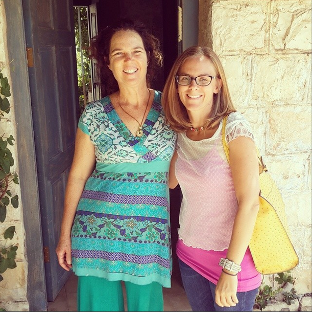 Atalia (l) owner of Hemdatya Bed and Breakfast, and me